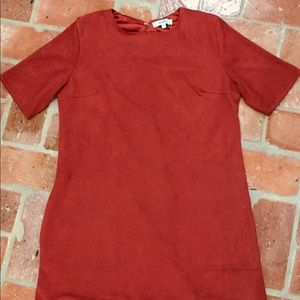KARLIE— Women's Rust Swede Dress